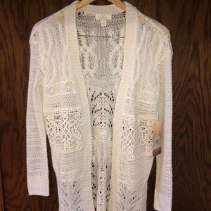 NWT Cream colored cardigan sweater